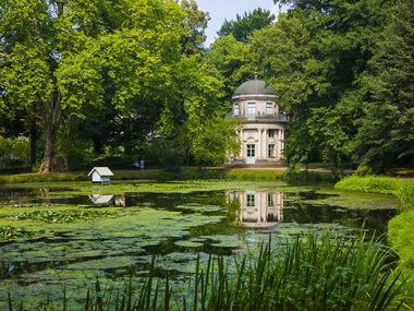 The English Garden and Pavilion in Pillnitz Park